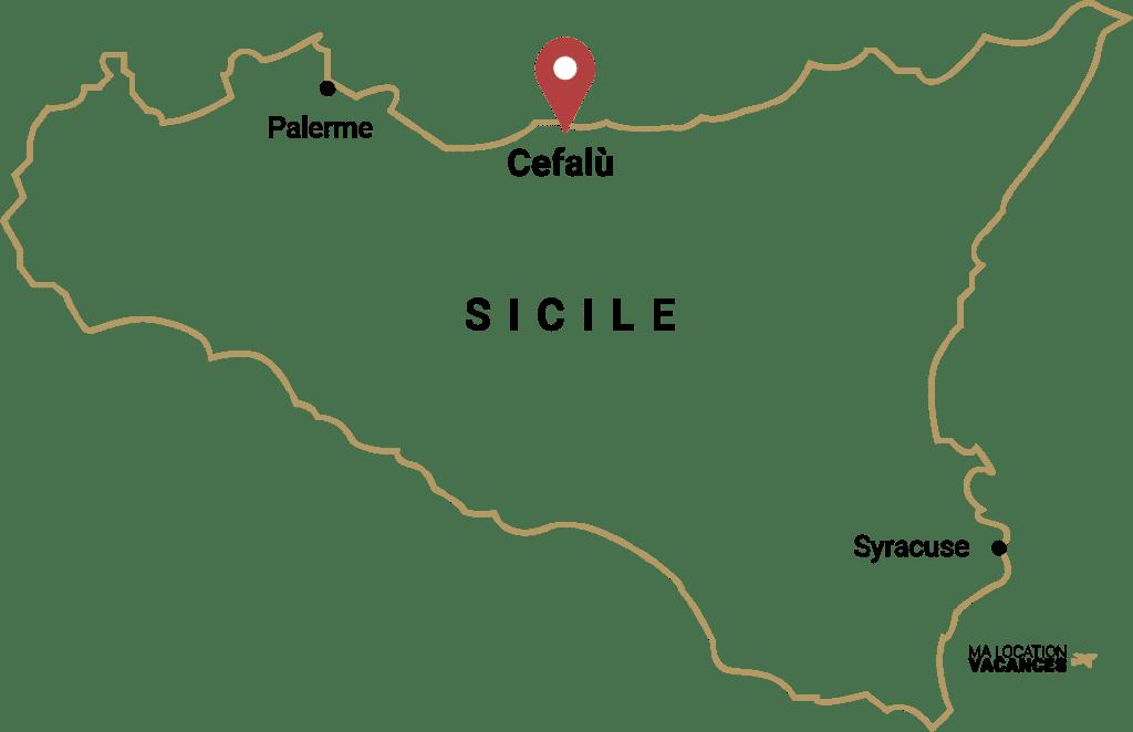 Carte Sicile Cefalù - Ma location vacances