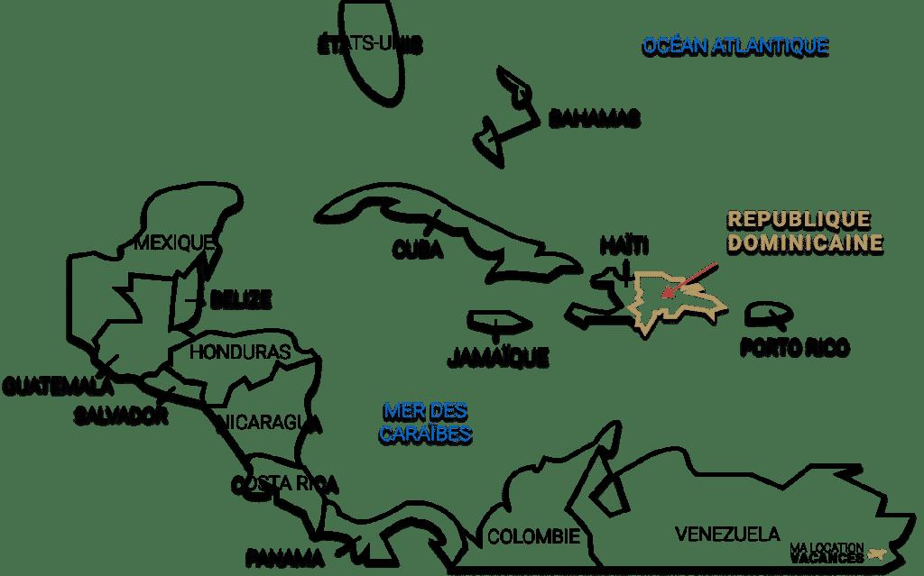 Carte republique dominicaine
