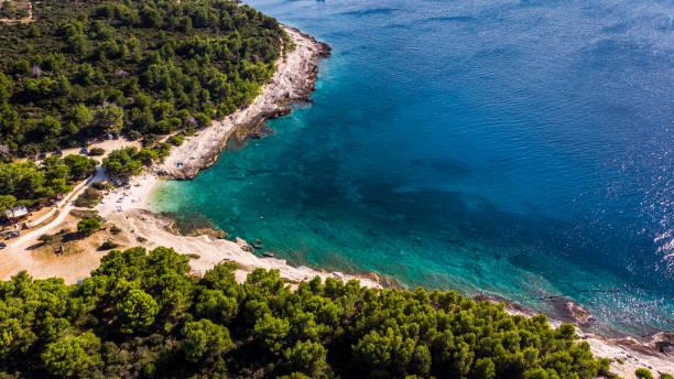 Mali Portić sur la péninsule de Kamenjakplage sable croatie