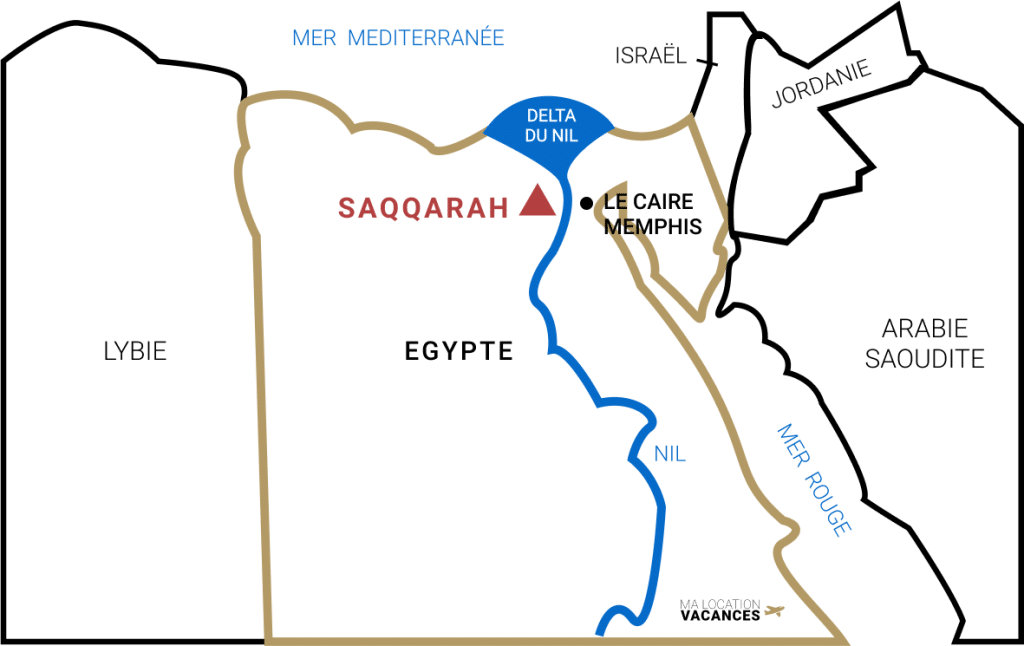 Saqqarah carte egypte