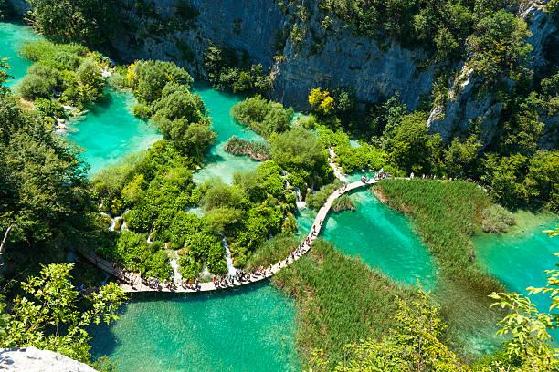 parc national des lacs de plitvice croatie pont passerelle bois