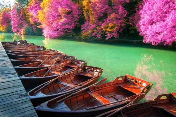 promenade bateau barque lac plitivice croatie
