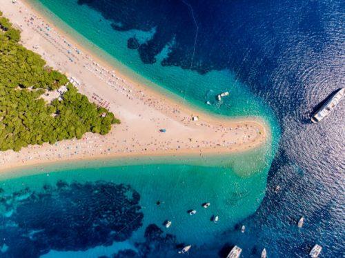 zlatni ile de brac plage sa sable croatie