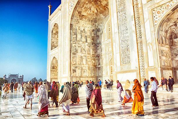 taj mahal palais en marbre blanc inde tourisme vacances visite